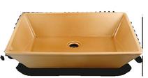 Carrelage - Décoration - Cuve rectangle 59x41 cm à poser Salle Bains - Faïence de Provence à Salernes