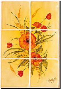 Carrelage d coration coquelicot c motif design for Carreaux faience 11x11